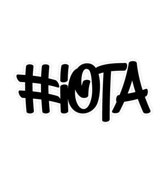#IOTA sticker black graffiti style