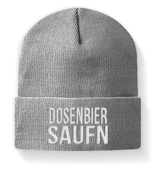 Dosenbier Saufen Wintermütze Mütze Ski