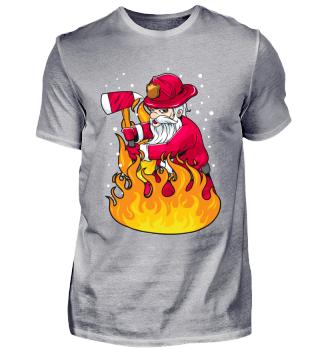 Feuerwehr Feuerwehrmann Santa Geschenk