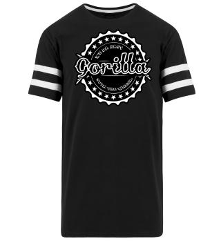 Herren Kurzarm T-Shirt Gorilla BW Ramirez