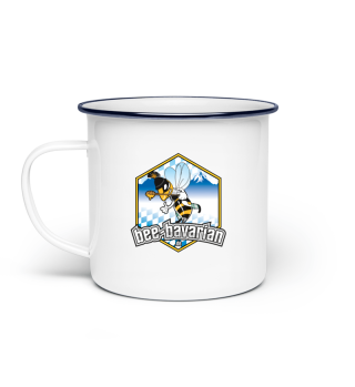 Bee Bavarian Email Haferl Bee Cup