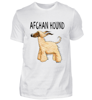 Happy Afghan Hound I Windhund Hund