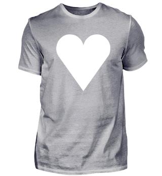 Herz, weißes Herz, Liebe, Valentinstag