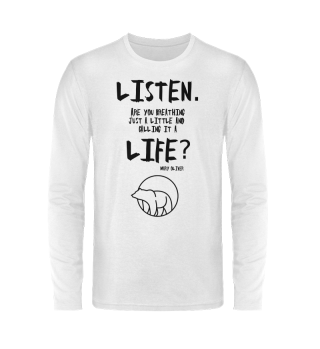 LISTEN shirt unisex