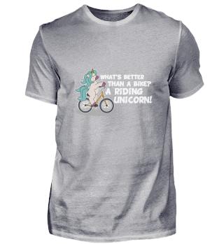 Riding unicorn bike shirt