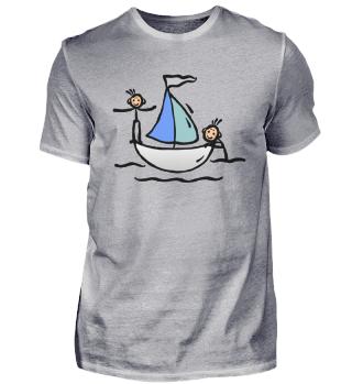 Zeichnung Kleines Segelboot