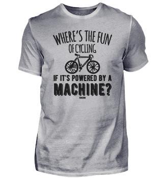 Radsport ohne Akku Biker Rennrad