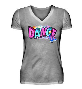 Damen Kurzarm T-Shirt Dance W Ramirez