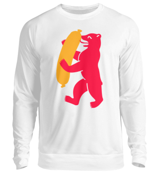 Berlin Bear With Currywurst - Sweatshirt