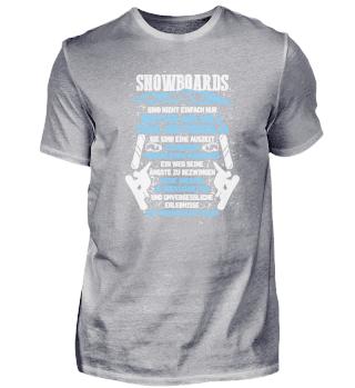 Geschenk Snowboarder: Snowboarden ist Le