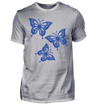 Schmetterlinge zum Ausmalen I - blau