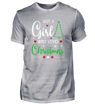 Nur ein Mädchen, das Weihnachten liebt