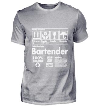 Product Description T Shirt - Bartender