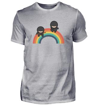 Ninja bunt im Regenbogen für Kampfsportl