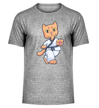 Karate Cat Sport Martial Gift