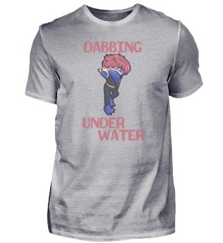 Taucher dabbing Junge Wasser Meer Urlaub