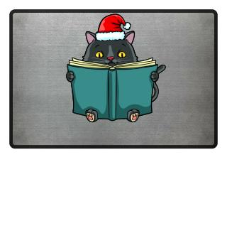 cat kitten book reading christmas