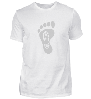 Bigfoot Sasquatch Foot Print Hiking Shoe