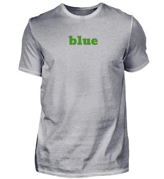 blue / green T-shirt - Geschenkidee
