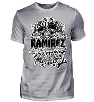 Herren Kurzarm T-Shirt Gangster Clown BW Ramirez