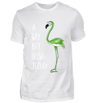 Wee Bit Irish Flamingo St Patricks Day
