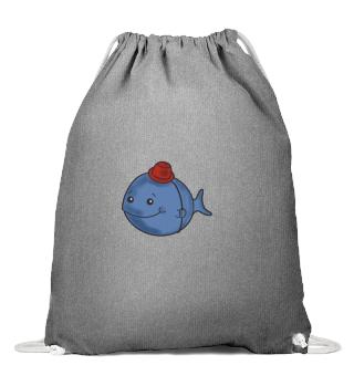 Kindermotiv Fisch mit Hut