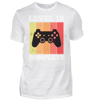 18. Geburtstag -Gamer Level 18