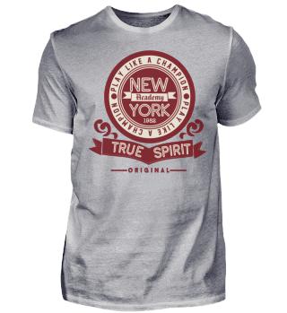 Herren Kurzarm T-Shirt New York Academy Ramirez