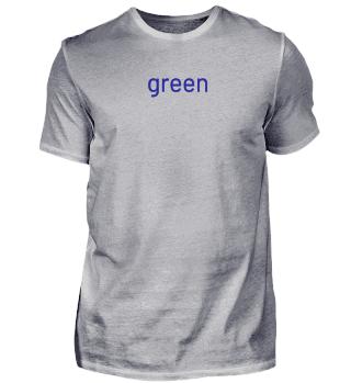 grün - blau T-shirt - Geschenkidee