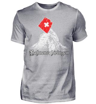 Schweiz Matterhorn Fahnenschwingen