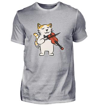 Katze Violine Musik Instrument Kinder