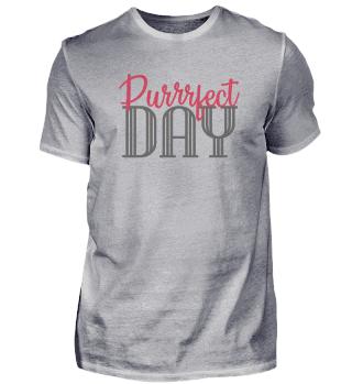 Purrrfect Day Retro Cat T-ShirtGift