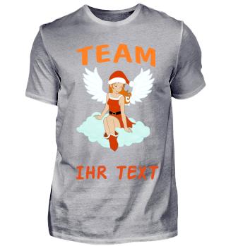 Team Santa Engel rothaarig Mond personalisierbar