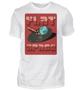 Flat universe with earth and rocket