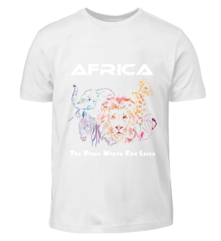 Afrika Tshirt Kinder/ Africa with God