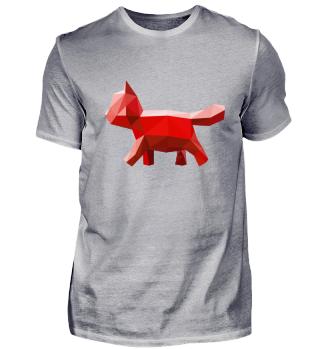 Cat Geometric Red