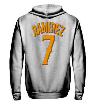 Herren Zip Hoodie Sweatshirt Ramirez 7 Ramirez