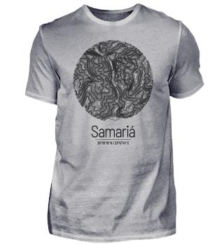 Samaria-Schlucht | Landkarte Topografie
