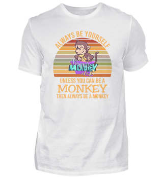 A monkey is funny saying