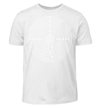 Chartres Labyrinth Flower Of Life white