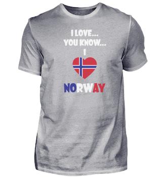 Ich liebe Norwegen T-Shirt