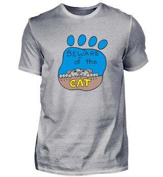 Vorsicht Katze - Fun Geschenkidee Miau
