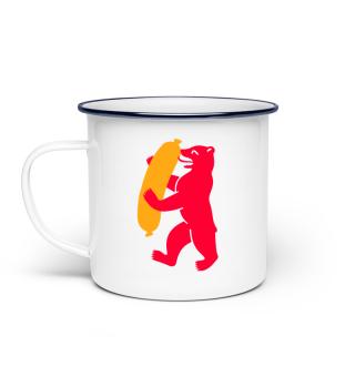 Berlin Bear Currywurst - Enamel Mug