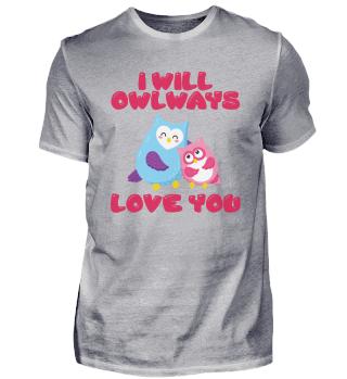 Sweet owl lovers couple love you romance