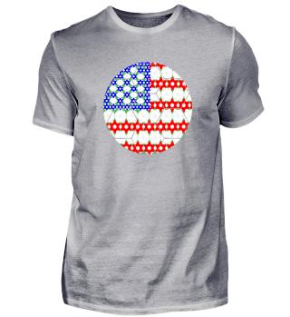 Fußball Flagge USA
