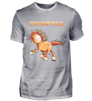 Rennpass Islandpferd Comic