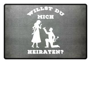 WILLST DU MICH HEIRATEN? Fussmatte