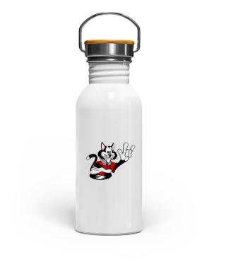 Edelstahl Trinkflasche Katze
