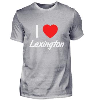 I Love LEXINGTON Pride Country T Shirt