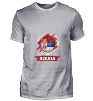D003-0026 Country Flag Serbia / Serbien